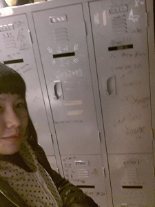 The locker that they vandalized was still there.
